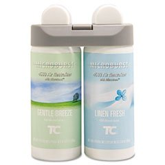 ** Microburst Duet Refills, Gentle Breeze/Linen Fresh, 4 oz, 4 per Carton **