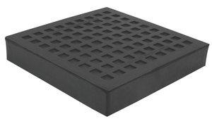 10''x10'' Base 1''Thk 25000Lb Cap Natural Rubber Load Bearing Pad
