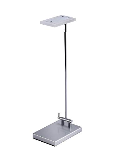 PureOptics LED Folding Desk Lamp with Swivel Head, Compact Footprint, Chrome (VLED420) - Compact Folding Lamp