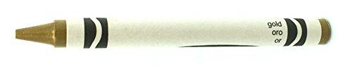 50 Gold Crayons Bulk - Single Color Crayon Refill - Regular Size 5/16 x 3-5/8