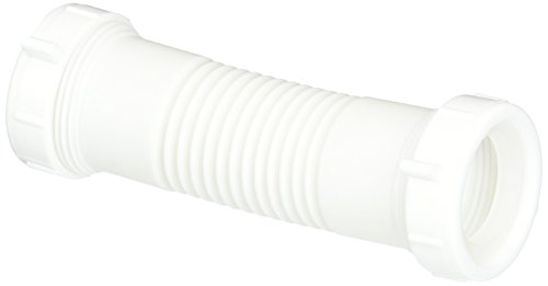 Eastman 35309 Flexible Coupling for Tubular Drain Applications, Elbow Replacement, Polypropylene Construction, 1-1/2-inch, White