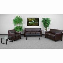 Flash Furniture HERCULES Diplomat Series Reception Set in Brown