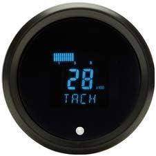 "Dakota Digital Round Tachometer 3 3/8"", Black, Chrome - Compatible with Most Vehicles"
