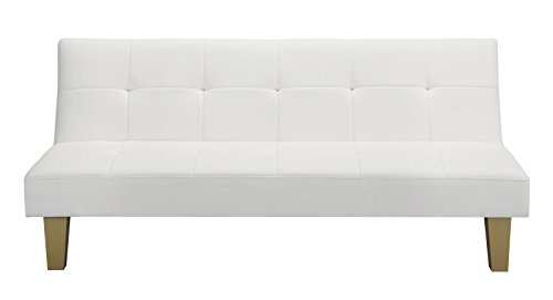 amazoncom dhp aria futon white kitchen dining aria futon sofa bed