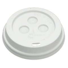 Boardwalk 10-20DOMELID White Plastic Dome Lid for Paper Hot Cups (10 Packs of 100)