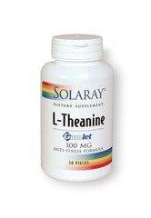 Solaray L-théanine menthe Gumlet supplément, 100 mg, 30 Count