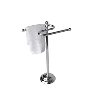 Essentials 24K Gold Free Standing Double Guest Towel Holder
