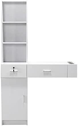 Onpiece The Goods can be Received Within 3-10 Days Beauty Salons Wall Mount Beauty Salon Spa Mirrors Station Hair Styling Station Desk White UYGHB