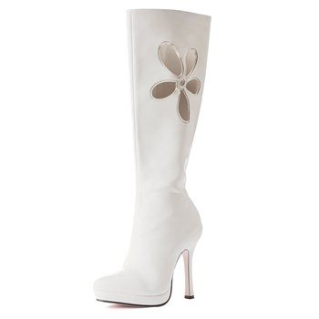 Lovechild White Adult Boots (Lovechild Adult Boots, White, Size 7)