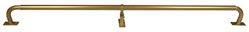Meriville 1-Inch Diameter Wraparound Blackout Curtain Rod, 48-Inch to 84-Inch, Gold Finish (1 Inch Curtain Rod Diameter)