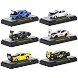 Auto Thentics Mooneyes Auto Japan 6 Piece Set in Display Cases 1/64 Diecast Model Cars by M2 Machines 32500-MOON03