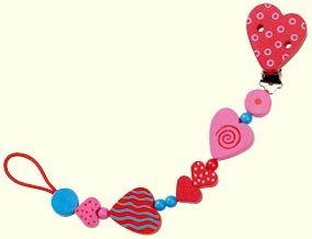 Hearts Pacifier Chain by HABA