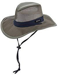 Panama Jack Hat - Mesh Safari Hat, Big Brimmed, Supplex, Sun Hat (Large, Fossil)