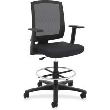 Hon Torch Mesh Task Stool – Mid Back Chair for Table or Desk, Black (HVL515)