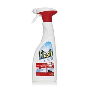 Flash With Bleach Bathroom And Kitchen Cleaner, 450ml