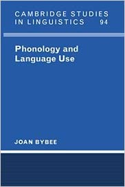 phonology and language use bybee joan