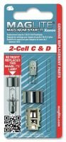 Flashlight Aa Xenon 4 Lamp (2 Cell Mag-Num Star Xenon C or D Replacement)