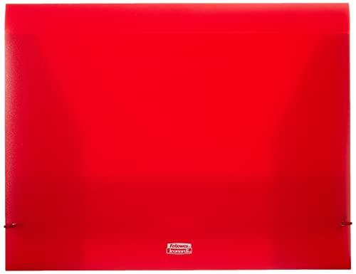 Fellowes U140RO - Carpeta (ancho de 24 cm, altura de 35 cm), color rojo