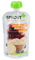 Sprout Organic Baby Food Plum, Berry, Brown Rice & Quinoa