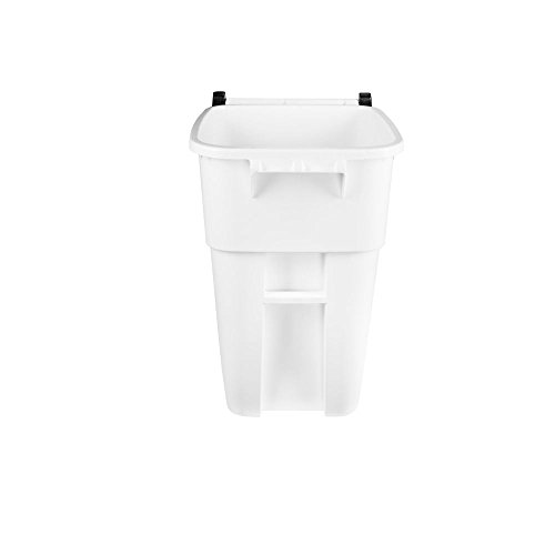 Rubbermaid Commercial Products 1829410 BRUTE Heavy-Duty Round Waste/Utility Container, 50 gal, White