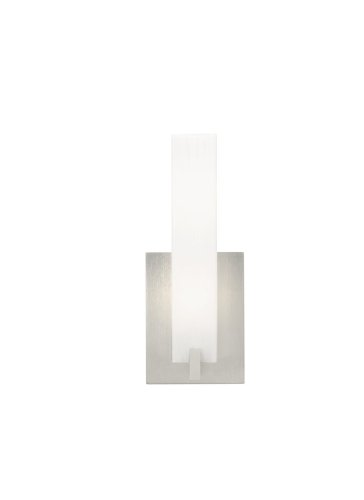 Tech Lighting 700WSCOSFS Satin Nickel Cosmo Cosmo Rectilinear Frost White Glass Wall Sconce