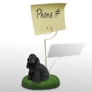 - Cocker Spaniel Black Dog Office Desktop Memo Holder