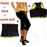 Full Body Slimmer 3 Pc Set, Waist Belt, Vest, Pants Body Shaper Trimmer for Weight Loss-thermo Sweat Neoprene Shaper (XXXL)