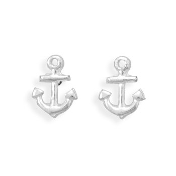 Anchor Stud Earrings - Akoya Chain Earrings