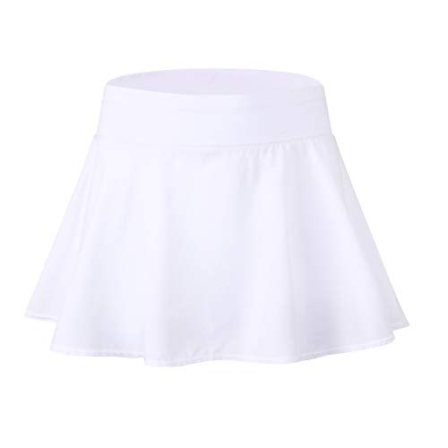 EZ-Joyce Girl's Pleated Mini Active Skort Super Light Tennis Skirt with Shorts -