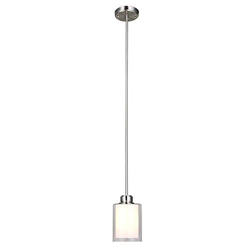 (Design House 567214 Oslo 1 Light Mini Pendant, Satin Nickel)
