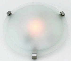 Access Lighting 50063-SAT/FST Cirrus Flush Mount, Satin Finish with Frosted Glass