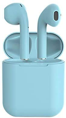 Inpods12 UP Version i12 Matte Wireless Bluetooth 5.0 Headphones Earphones Super Bass Sound Earbuds i7s i9s i11 i12 TWS (Green) (Blue)