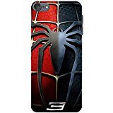 Ipod Touch 6th Generation Case Cover,Classical Spider Logo Design 3D Comic Spiderman Phone Case Cover for Ipod Touch 6th Generation Hot Superhero