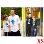 Lovely The Smurfs Style 100% Cotton Lover's Long-Sleeve T-Shirt for Man(1-Pack)-Color Assorted/Size XS