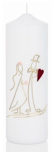 Kerze ohne Namensverzierung Hochzeitskerzen Nr 50 Original handverzierte Wiedemann Anlass Kerzen