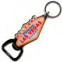 (5 7/18) Las Vegas Bottle Opener Welcome Sign Key Chain 30056