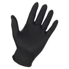 Genuine Joe Titan Disposable Powder-Free Nitrile Industrial Gloves, Large, Black, Pack of 3