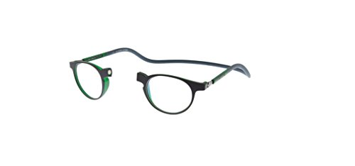 New Slastik Magnetic Clic Style Reading Glasses Frames Soho 006 With Soft Case Power, Adjustable Sides & Anti reflective lenses Power - Soho Eyewear