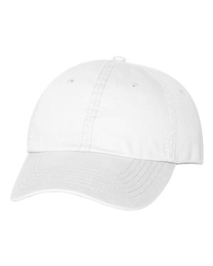 Valucap Twill - Valucap - Unstructured Washed Chino Twill Cap with Velcro - VC350 - One Size - White