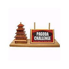 Square Root Games 0027 Pagoda Challenge in Natural Finish Solid Hardwood ()