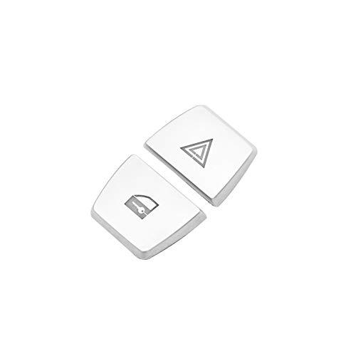 Innen Mittelkonsole Warnlicht Schalter Taste Abdeckung Zierleisten 2Stk