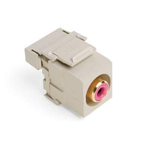 (Leviton 40735-RRI RCA-110 QuickPort Snap-in Connector, Ivory )