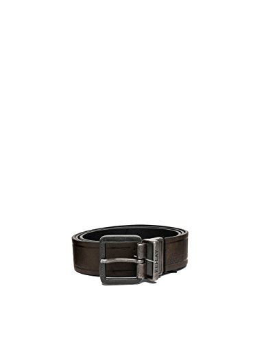 Replay Men's Crust Men's Leather Black-Brown Belt in Size 105 Brown by Replay