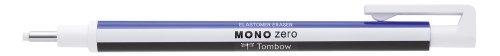 Tombow EH-KUR Präzisionsradierer Mono, zero nachfüllbar, runde Spitze, Durchmesser 2.3 mm, weiß/blau/schwarz