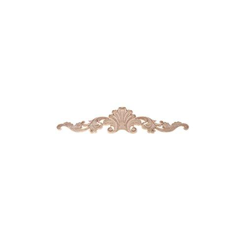 Lychee Flower Wood Carved Corner Onlay Applique Furniture Unpainted Cabinet Corner