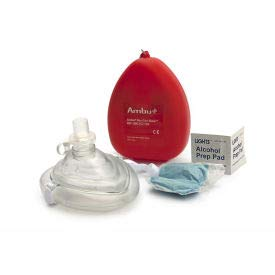 Ambu CPR Mask With 02 Inlet, 10-502, (Pack of 5) (10-502)