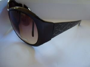 Storm Brown Sunglasses with Lattice Pattern Side zhpeVfB