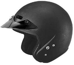 Black U6 Open Face Helmet (2013 Cyber U-6 Open-Face Motorcycle Helmets - Matte Black - X-Large)