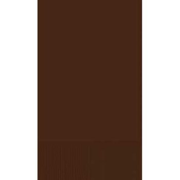 Chocolate Brown Guest Towels, 16ct by Party America (Image #1)