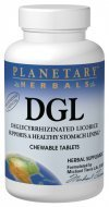 Chewable Licorice Dgl - Planetary Herbals DGL Deglycyrrhizinated Licorice, Supports a Healthy Stomach Lining,200 Tablets